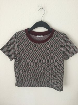 Zara cropped Shirt mit Ethno Print