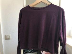 Zara cropped Shirt mit Glockenärmeln