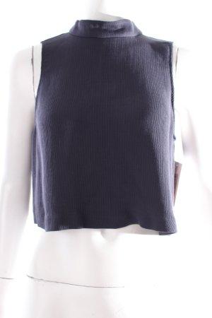 Zara Cropped Top dunkelblau