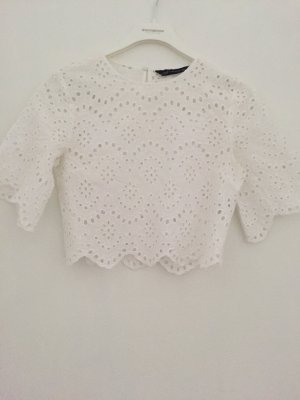Zara Woman Top corto bianco
