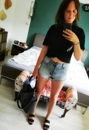 Zara Camicia cropped nero