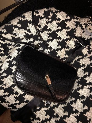 Zara Cross Body Fell-Leder-Kroko Mix
