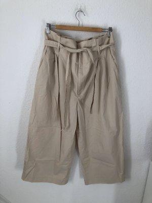 Zara Pantalone culotte crema-bianco sporco
