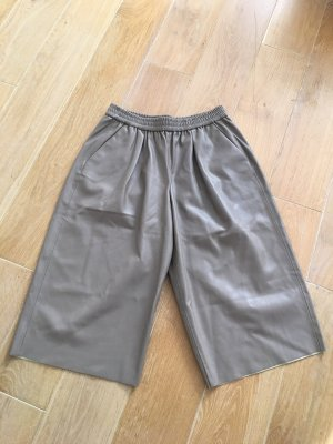 Zara culotte faux leather Gr. L taupe Farbe