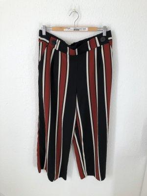 Zara Pantalone culotte nero-rosso