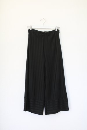 Zara Culotte gestreift schwarz Hose Gr. S Stretch Pants High Waist