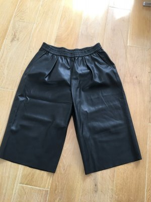 Zara culotte Gr. XL schwarz faux leather