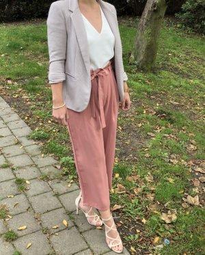 Zara Pantalone culotte rosa Poliestere