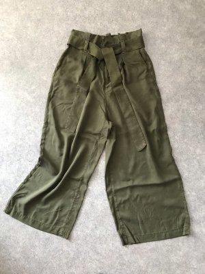 Zara Culottes khaki-dark green