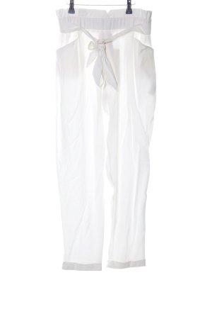 Zara Pantalone culotte bianco stile casual
