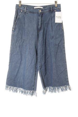 Zara Falda pantalón de pernera ancha azul look casual