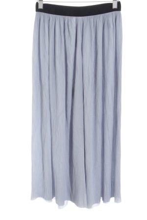 Zara Pantalone culotte azzurro-nero elegante