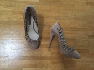 Zara Cut-out Echt Wildleder Leder Pumps Highheels Blogger 36