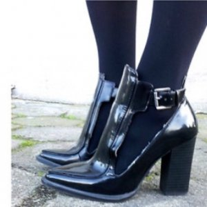 Zara High-Front Pumps black leather