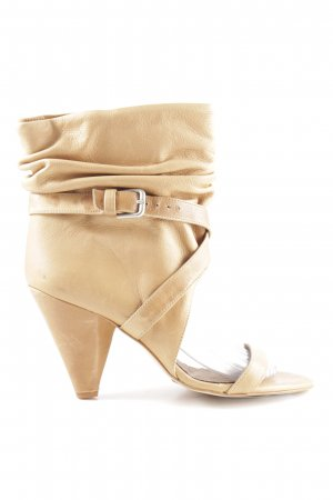 Zara Cut Out Booties cream elegant