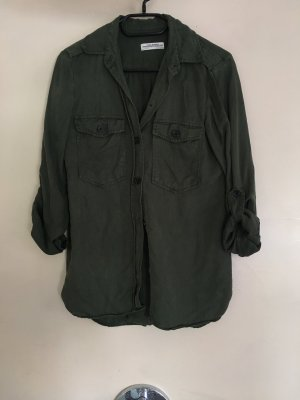 Zara Lumberjack Shirt black-dark green