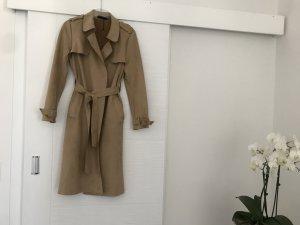 Zara Damen Trenchcoat aus Wildlederimitat
