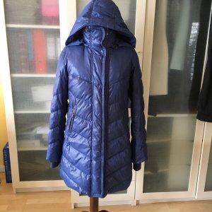 Zara Basic Manteau en duvet bleu-bleu fluo