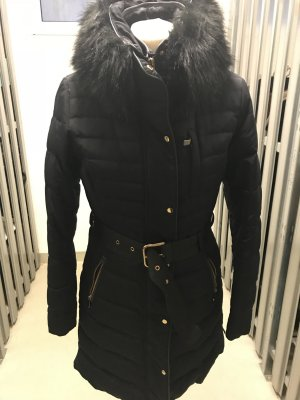 Zara Manteau en duvet noir-bleu foncé