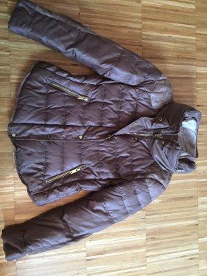 Zara Basic Down Jacket cognac-coloured-brown