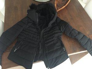 Zara Doudoune noir tissu mixte