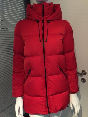 Zara Down Coat red