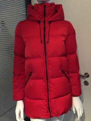Zara Abrigo de plumón rojo