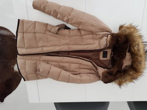 Zara Manteau en duvet beige