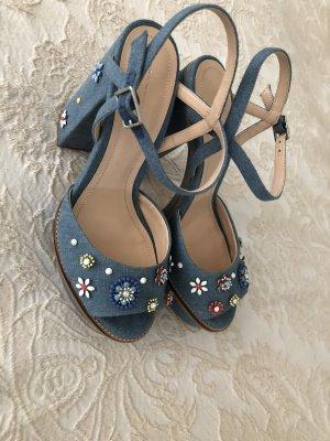 Zara denim blau  high heels gr 40 neuwertig