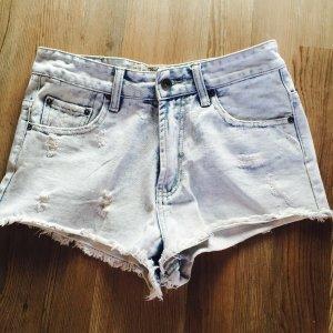 Zara denim hotpants high waist blau neu used look