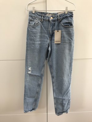 ZARA Denim Jeans Mom Fit Ripped Hellblau Gr. 36 / S - NEU und mit Etikett!