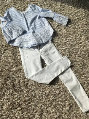 Zara Denim Slim Fit Jeans weiß Gr.34