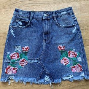 Zara Trafaluc Jupe en jeans multicolore