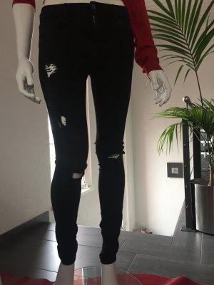 ZARA Destroyed-Jeans Gr. 38 - schwarz - NEU * 2016