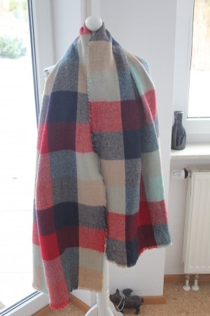 Zara dicker Schal mit verschiedenen Mustern