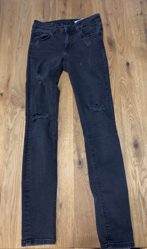 Zara distressed black jeans