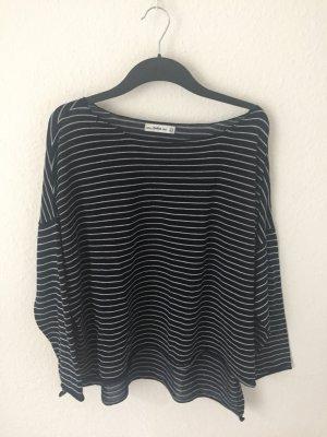 Zara dünner oversized Pullover Blau Weiß gestreift