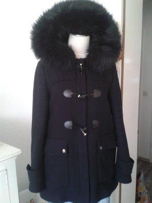 ZARA Duffle Coat Mantel XXL Fellkapuze