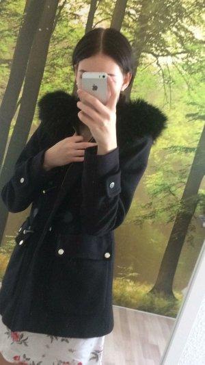 Zara Veste en fausse fourrure noir-doré