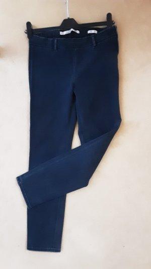 Zara, dunkelblaue Hüfthose, slim fit, Gr. 36