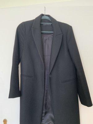 Zara Wollen jas zwart