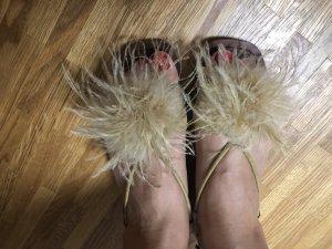 Zara Comfort Sandals beige