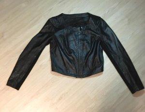 Zara Chaqueta de cuero negro Cuero