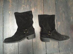 Zara echt Wildleder Slouch Boots Stiefeletten Gr. 36