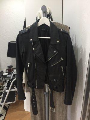 Zara Veste noir-argenté cuir