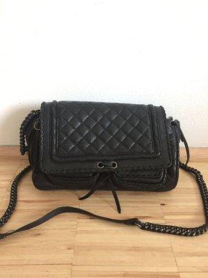Zara Echtleder Handtasche mit Kettenhenkel