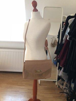 Zara Echtleder Leder Blogger Nieten nude Tasche