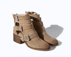 Zara Low boot chameau cuir