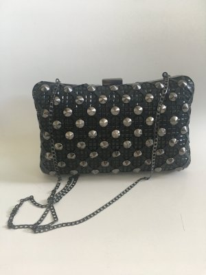 Zara Clutch black-petrol leather
