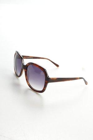 Zara eckige Sonnenbrille dunkelbraun-braun Farbverlauf Beach-Look